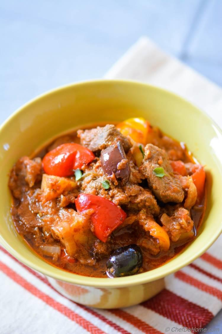 Lamb and Potato Stew. Nothing says comfort than a bowl of warm lamb and potatoes stew. #soups #stews