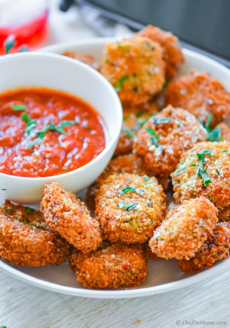 Fried Lasagna Bites for summer movie Night Snack | chefdehome.com
