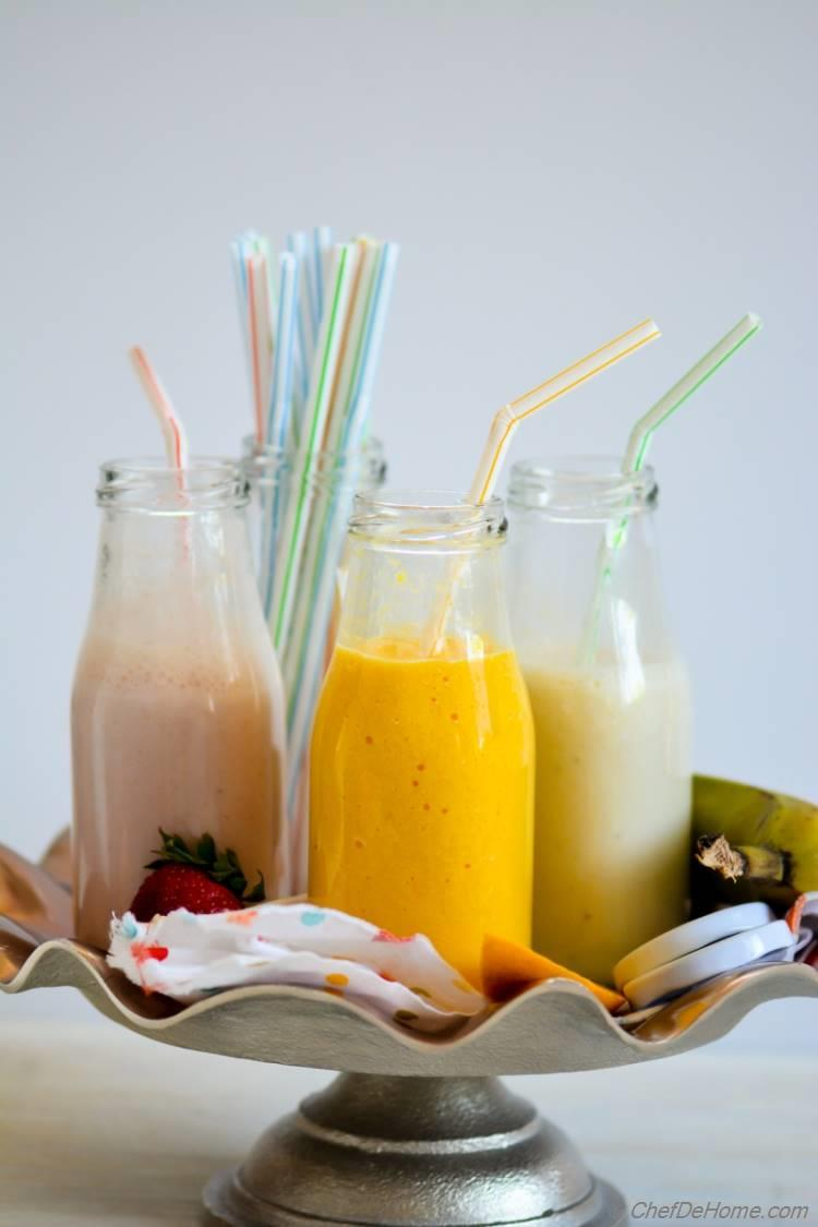 Mango Strawberry Banana - Milk Shake Party