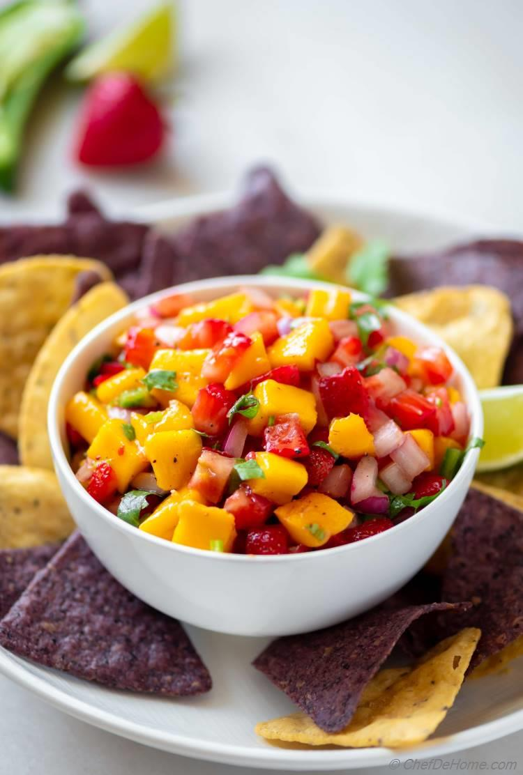 Spicy Mango Salsa with heat and sweet blend of flavors