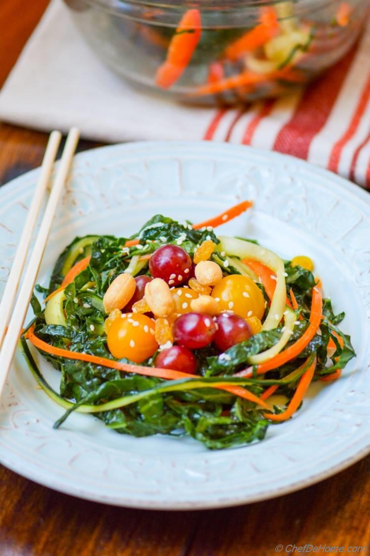 Marinated Kale and Carrot Nests Salad