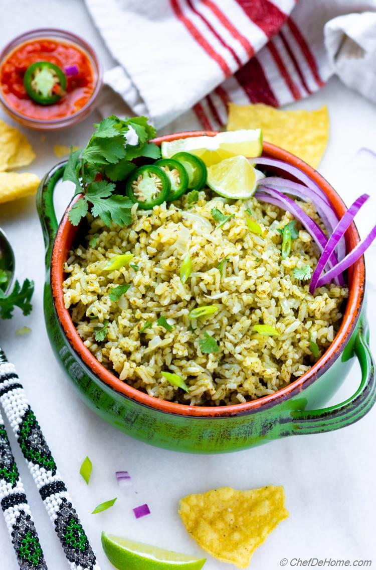 Mexican Green Rice Recipe