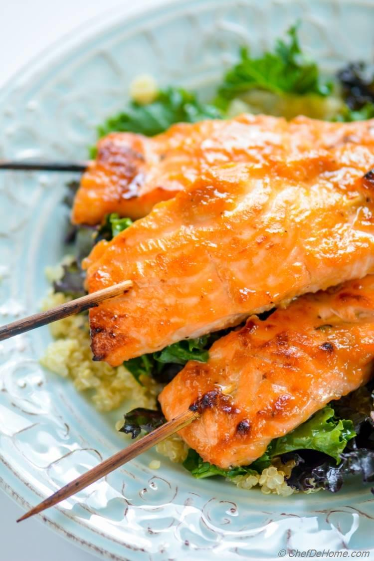 Miso Ginger Glazed Baked Salmon | chefdehome.com