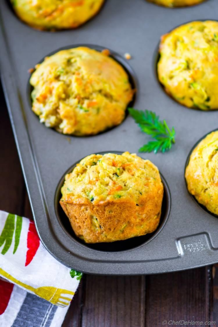 Healthy and Easy Carrot Muffins Recipe with Zucchini