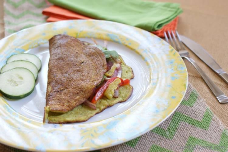 Mung Lentils Breakfast Crepe