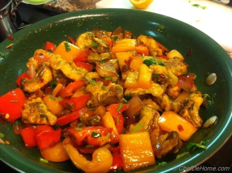 Indo Chinese Mushroom Chili Recipe Chefdehome Com