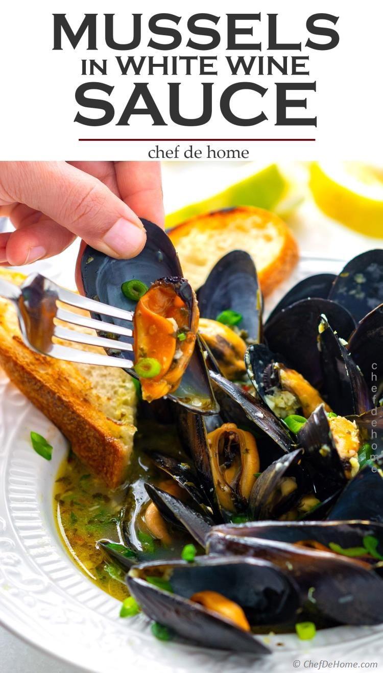 White Wine Mussels Recipe