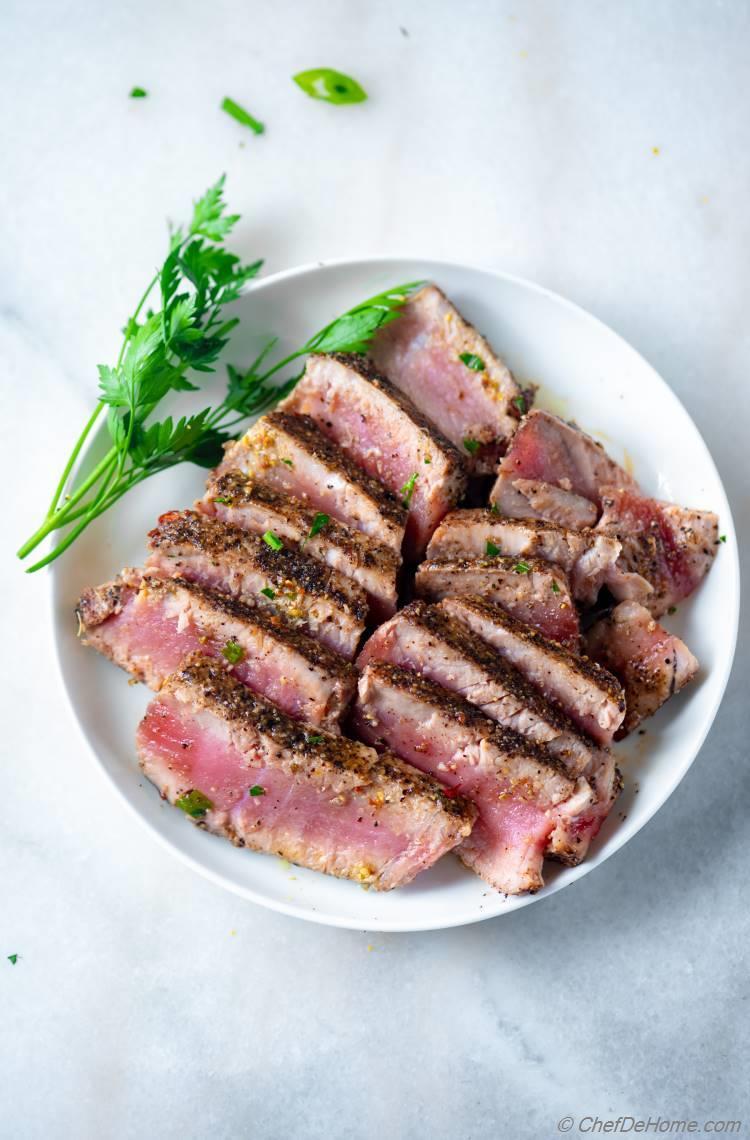 Seared Tuna for Salad Nicoise
