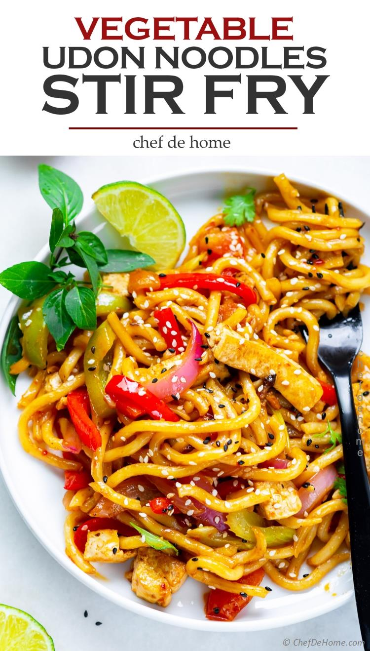 The best stir fry noodles with tofu oyster sauce and udon noodles
