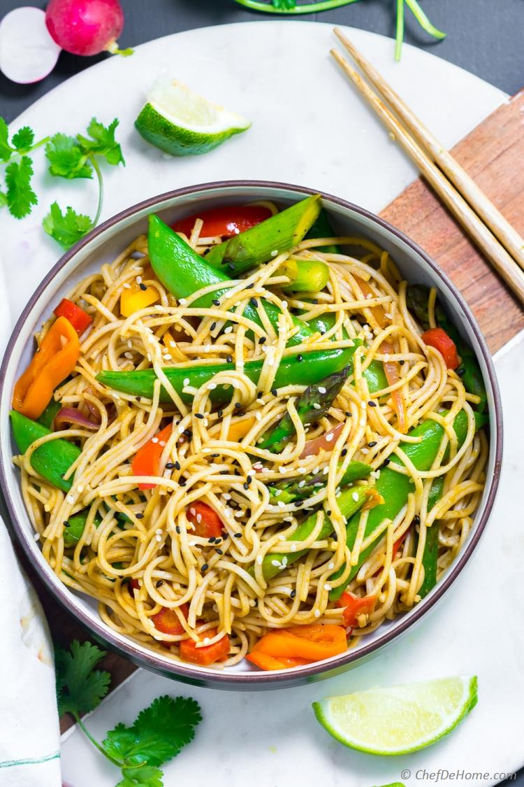 Vegetables and Noodles Stir Fry