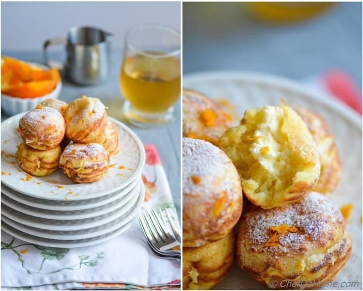 Scrumptious Orange-Cream Filled Ebelskivers. Perfect Holiday Sweet Treats!