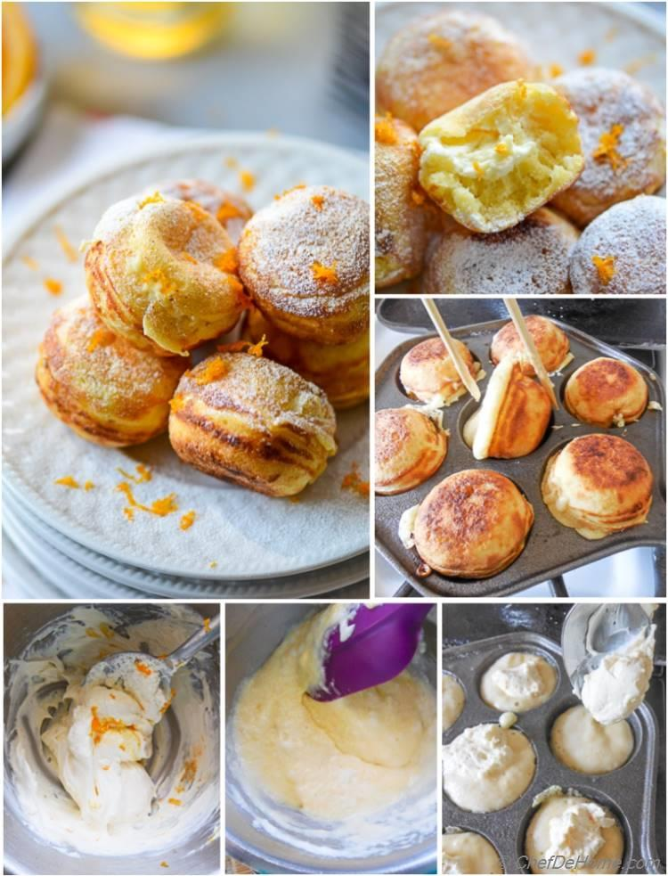 Ebelskivers - Step by step guide to make danish-style filled pancakes at home.