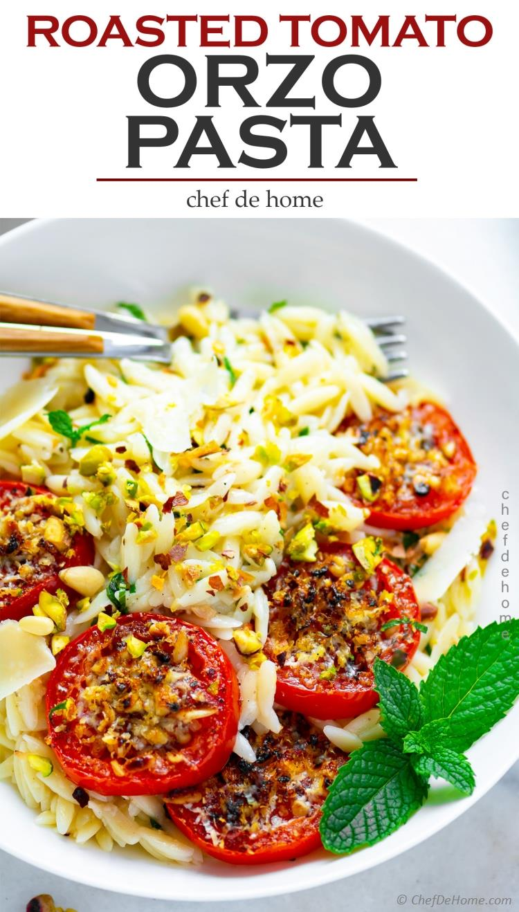 Orzo Pasta with Fresh Roasted Tomatoes