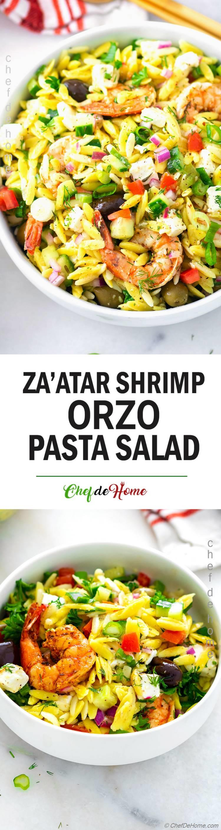 Orzo Salad with Shrimp, Feta and Cucumber