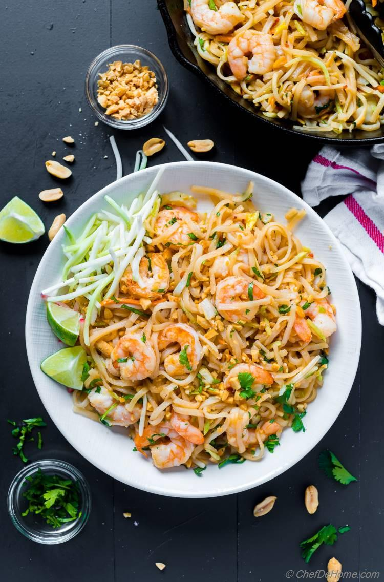 Pad Thai Shrimp with Roasted Peanuts