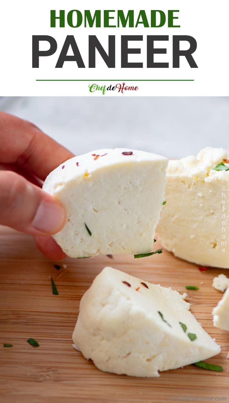 Homemade Paneer Cheese Recipe