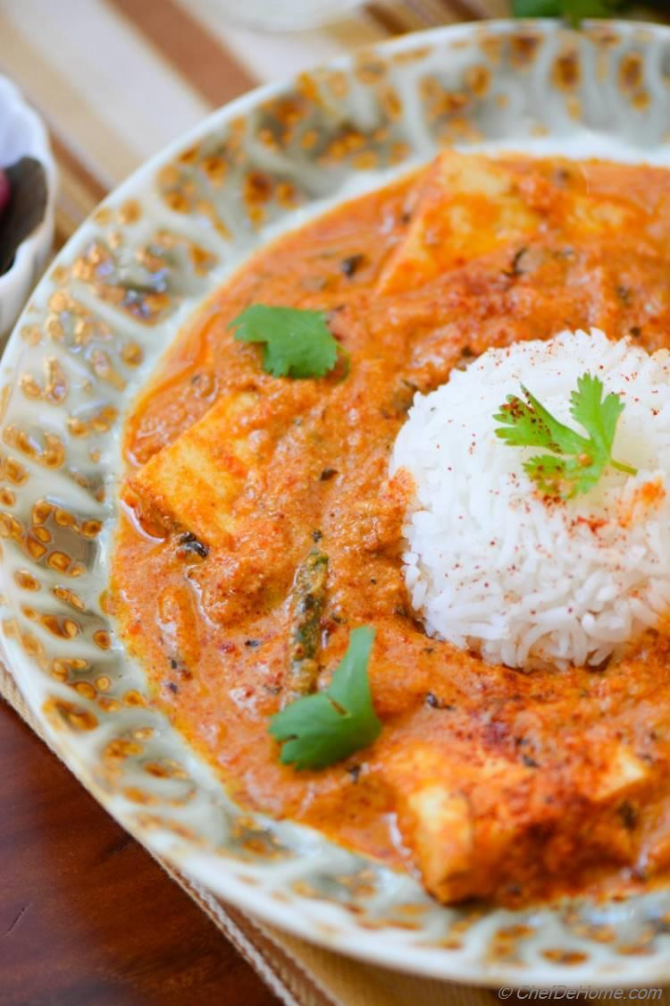 Paneer Butter Masala Curry Recipe