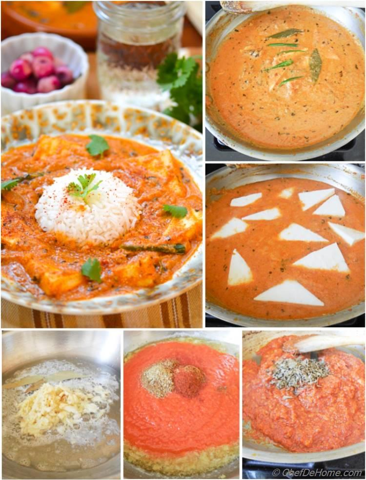 Paneer Butter Masala Recipe with Step Photos