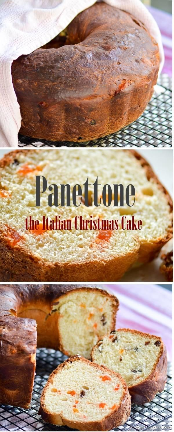 Closer Look at Festive and Rich Christmas Panettone Cake