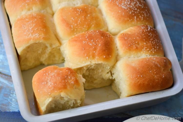 Buttery, pillow-y, pull-apart, american classic Omni Parker House Rolls | ChefDeHome.com