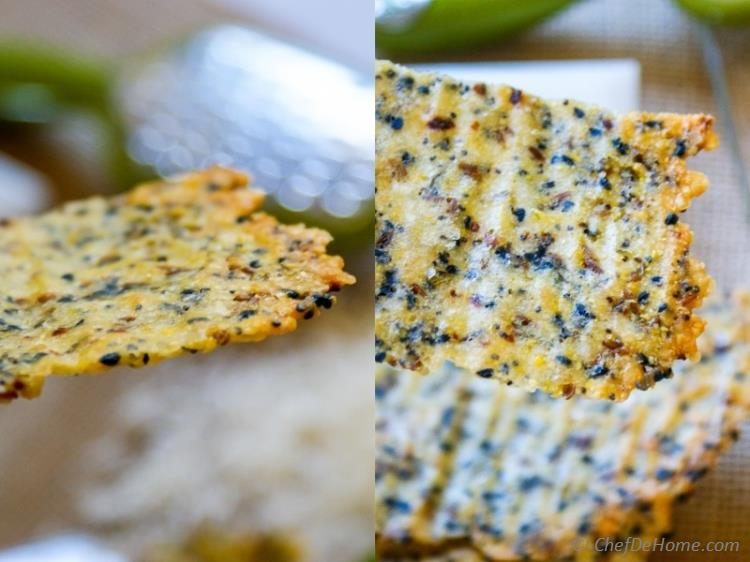 Thin and Crispy Parmesan Crisps | chefdehome.com