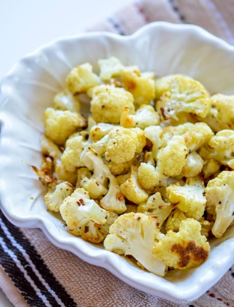 Roasted Cauliflower for Pasta Puttanesca | chefdehome.com