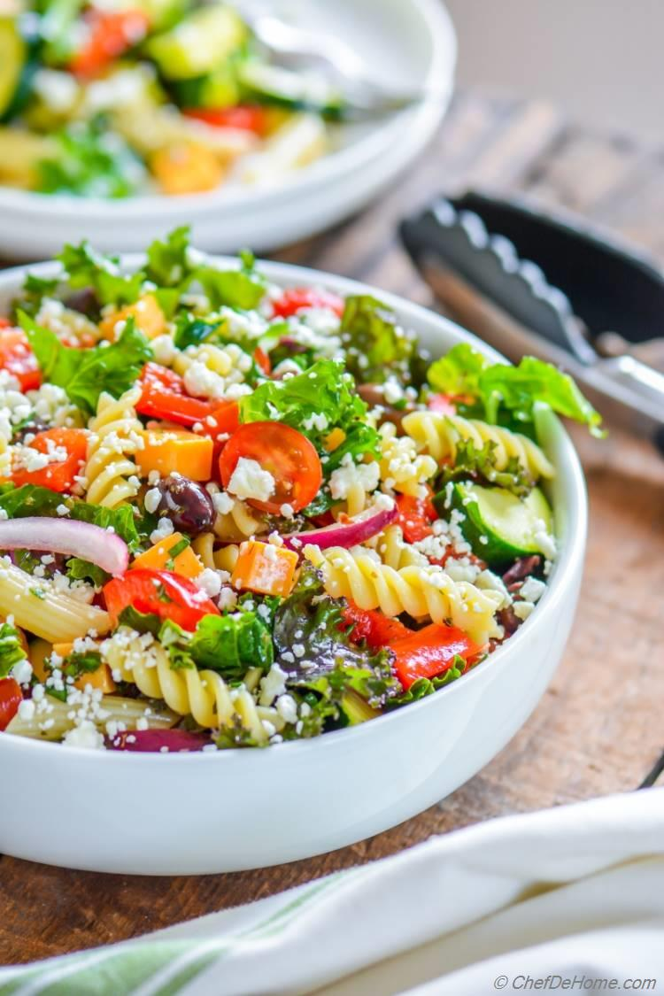 Deli Style Pasta Salad with Kale
