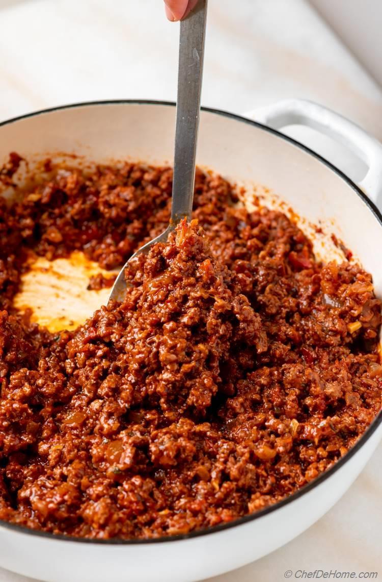 Lamb Meat Sauce for Pastitsio