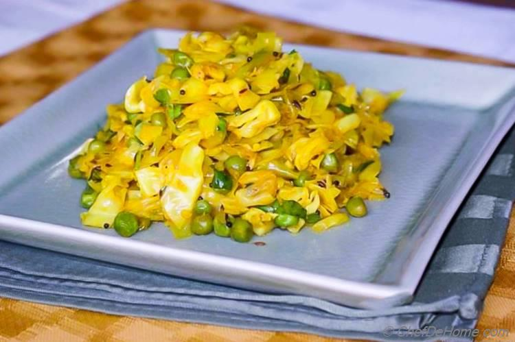 Easy Dinner Side - Mata Pata Gobi Ki Sabji | chefdehome.com