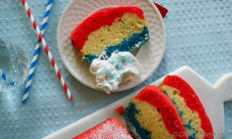 Patriotic Pound Cake