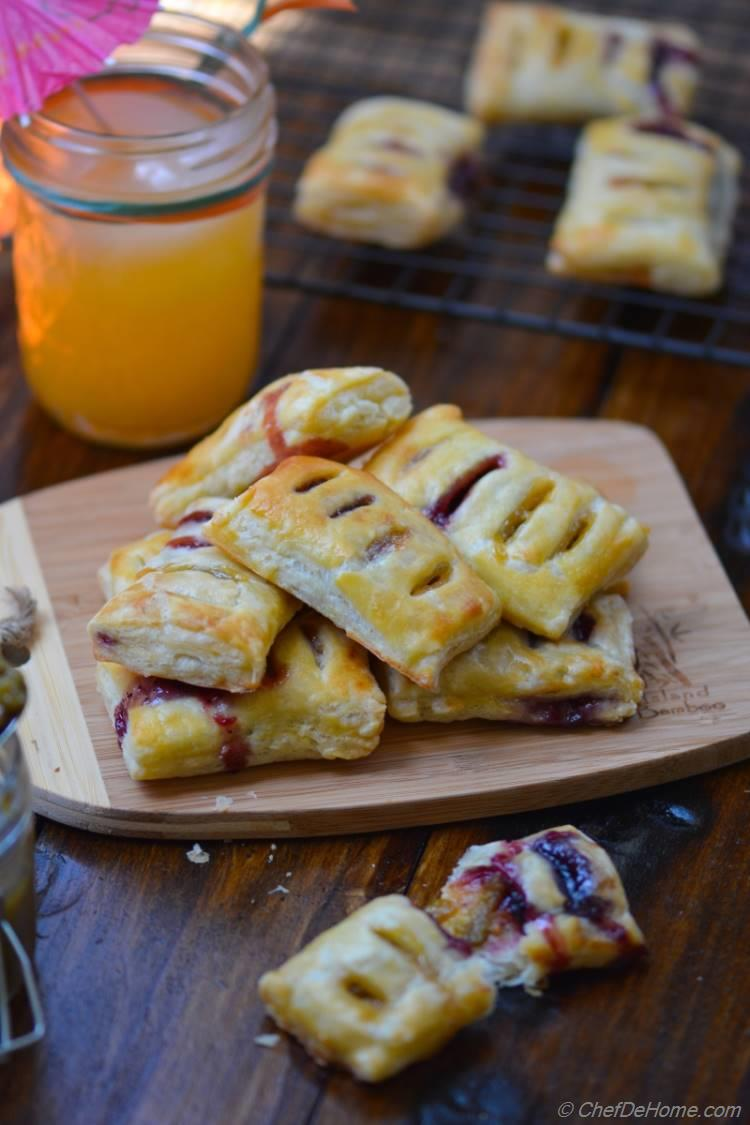 Petite Pastry Bites with Homemade Sour Grape Preserve