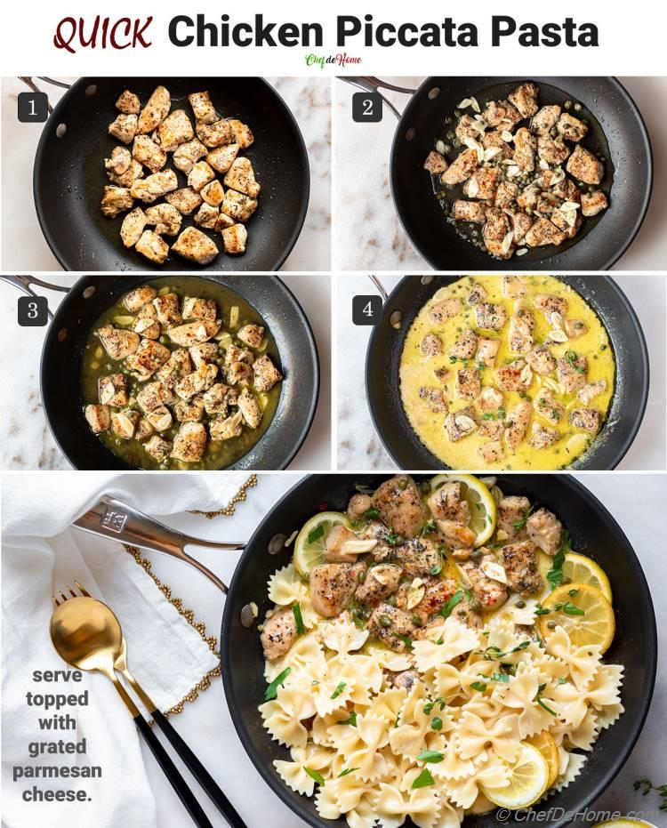 How to Make Chicken Piccata Pasta