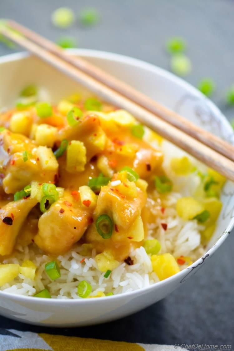 Yummy Ready in 20 minutes Pineapple Tofu and Rice Bowl