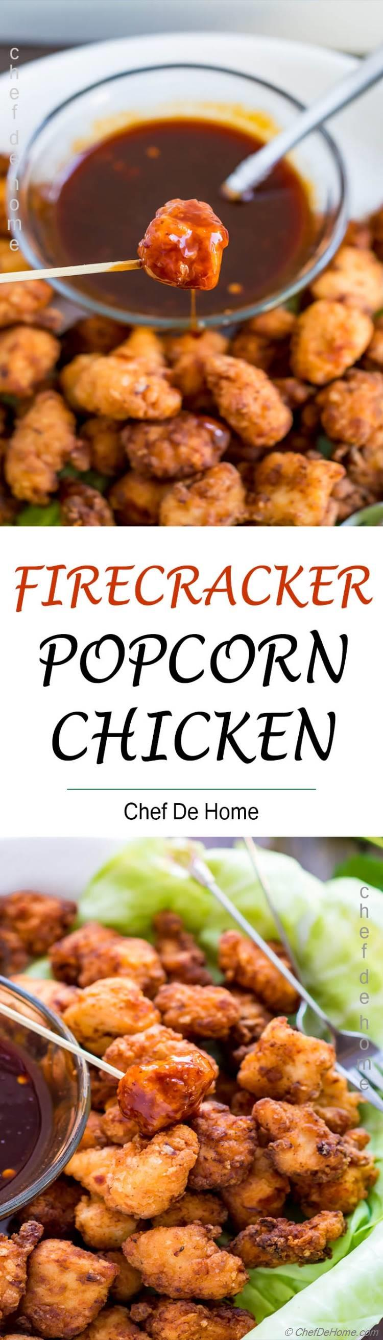 Popcorn Chicken with Firecracker Sauce