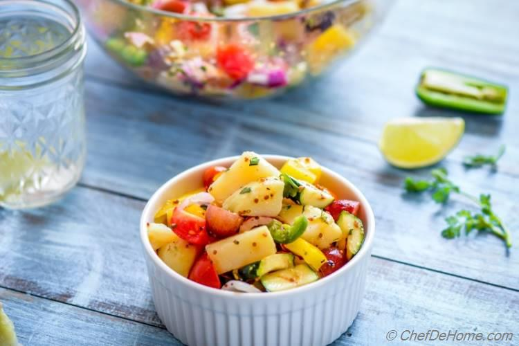 Easy No Mayo Farmer Market Potato Salad with Healthy Dressing | chefdehome.com