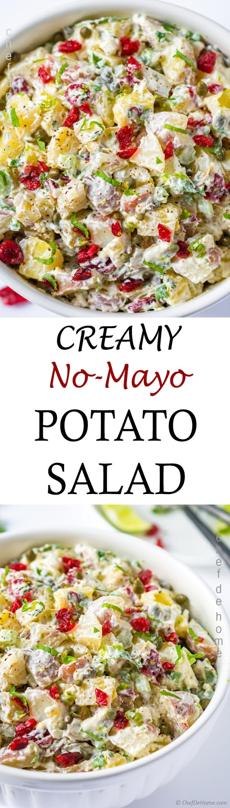 creamy red potato salad without mayo with cream cheese | chefdehome.com