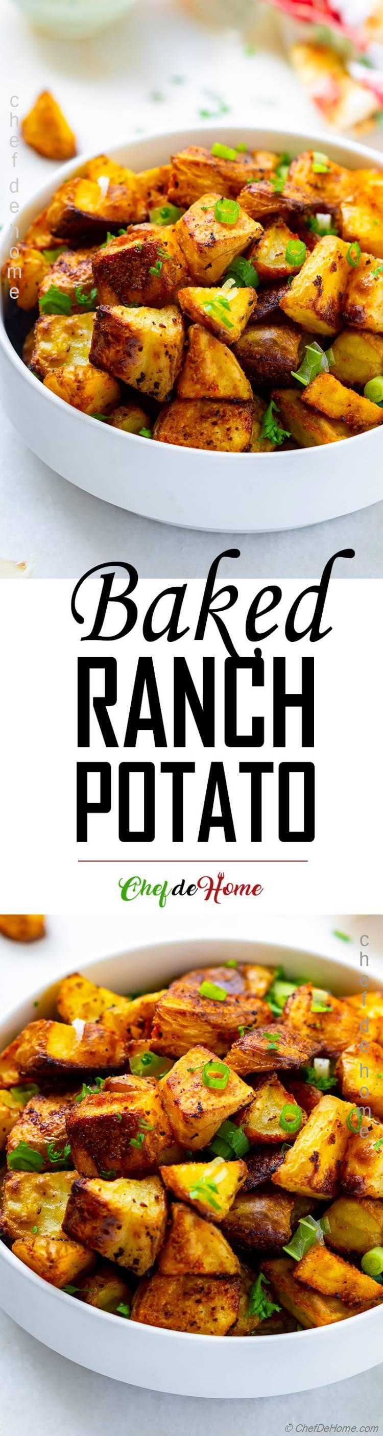 Baked Ranch Potato Recipe Crispy Potato Spicy and Easy