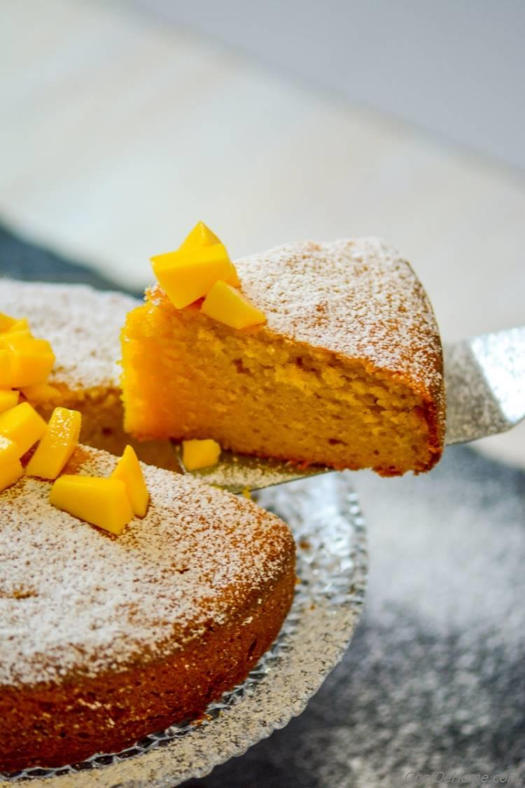 Single Layer Moist Mango Pound Cake | chefdehome.com