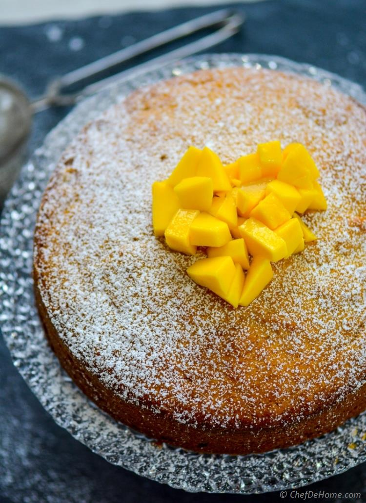 Homemade Rich and Moist Coconut and Mango Pound Cake | chefdehome.com