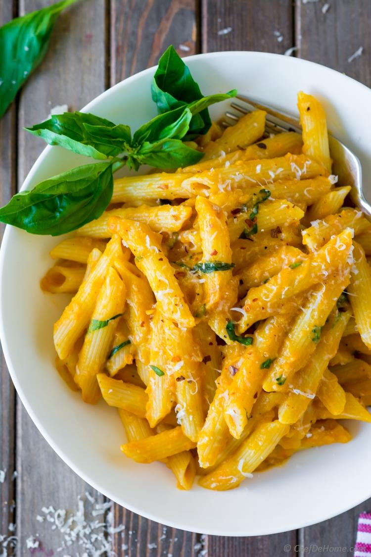 Pumpkin Sauce Pasta with Parmesan