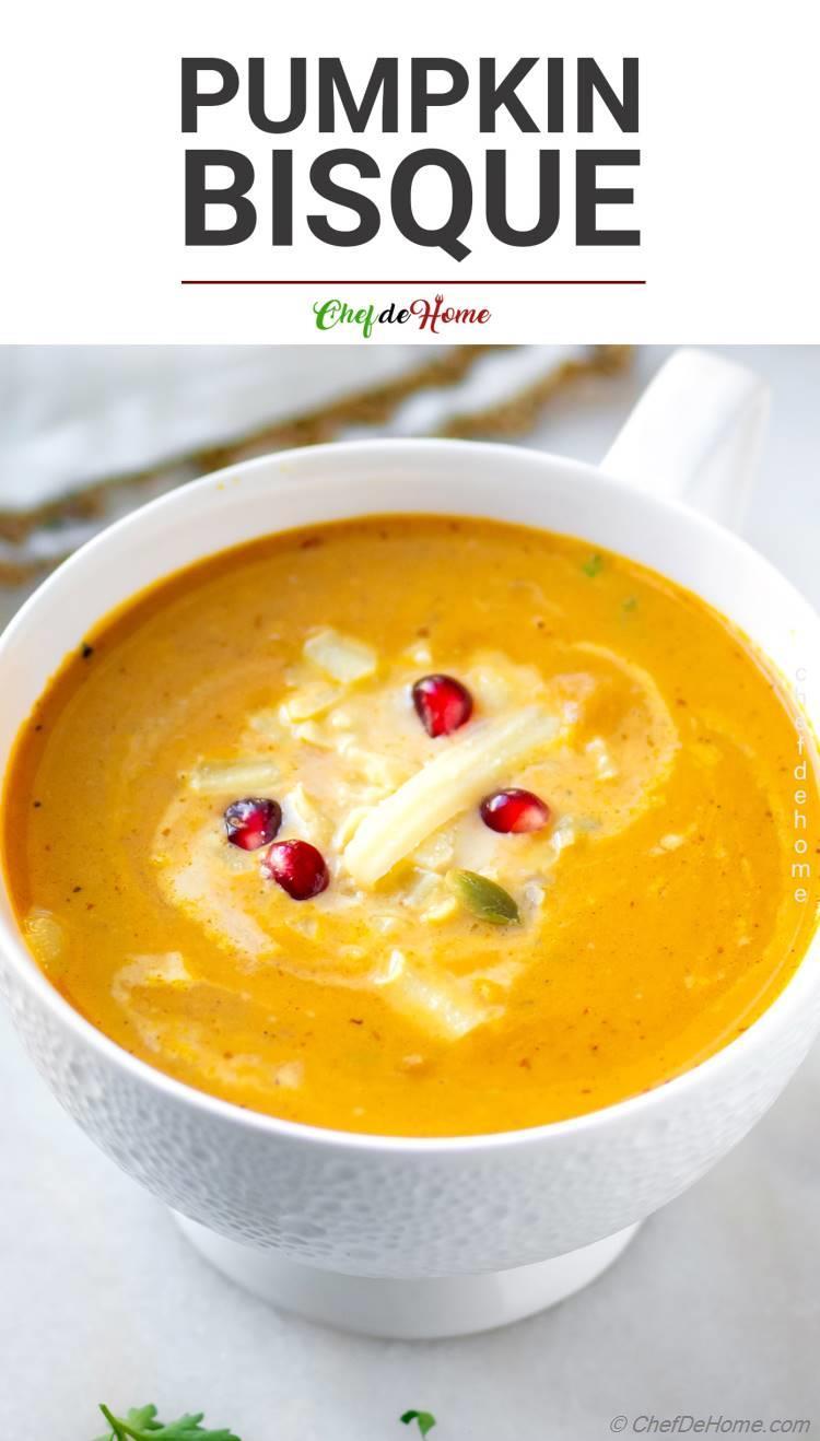 Pumpkin Bisque Creamy Silky Savory Recipe