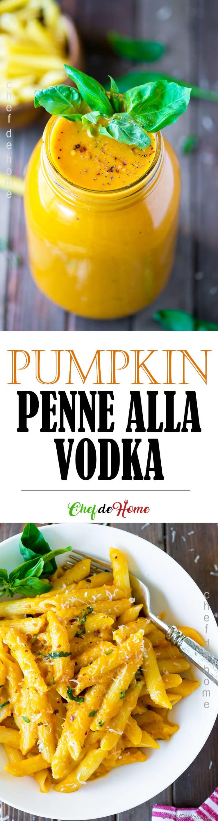 Pumpkin Vodka Sauce Pasta