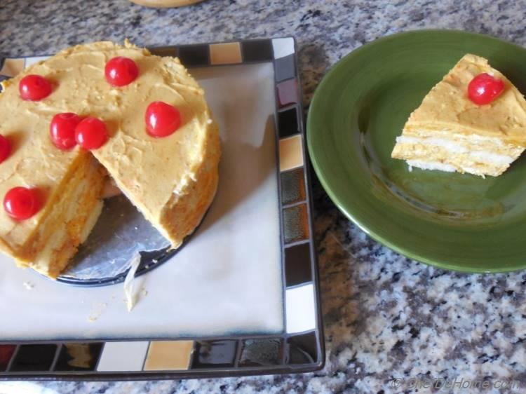 Orange Pumpkin Mousse Cake