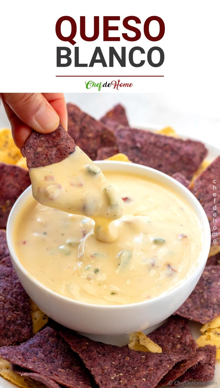 Queso Blanco Dip and Chips
