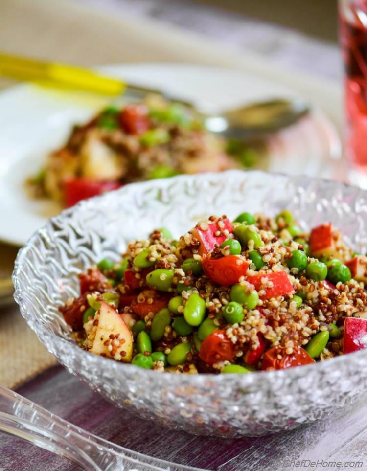 Vegan and Gluten Free Rainbow Quinoa and Apples Salad
