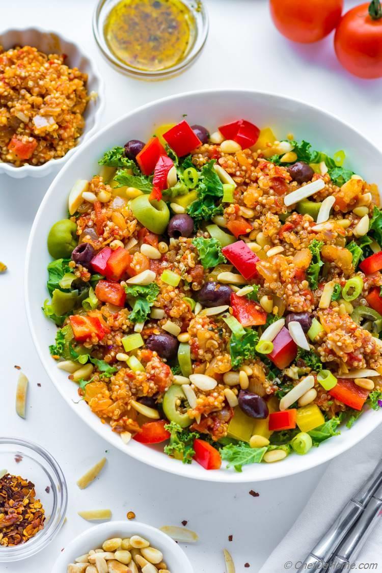 Quinoa Tomato Sofrito Salad