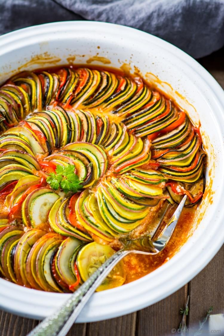 Ratatouille recipe for What is fish food made of