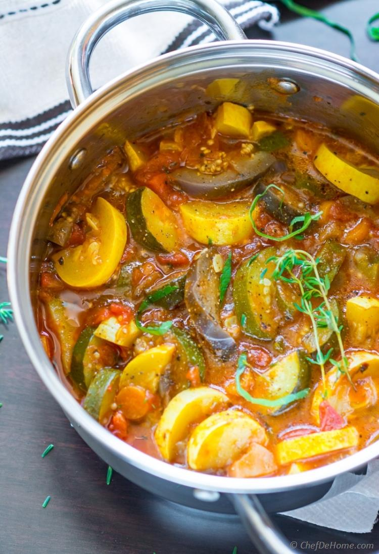 The Best Ratatouille Stew healthy vegan and gluten free