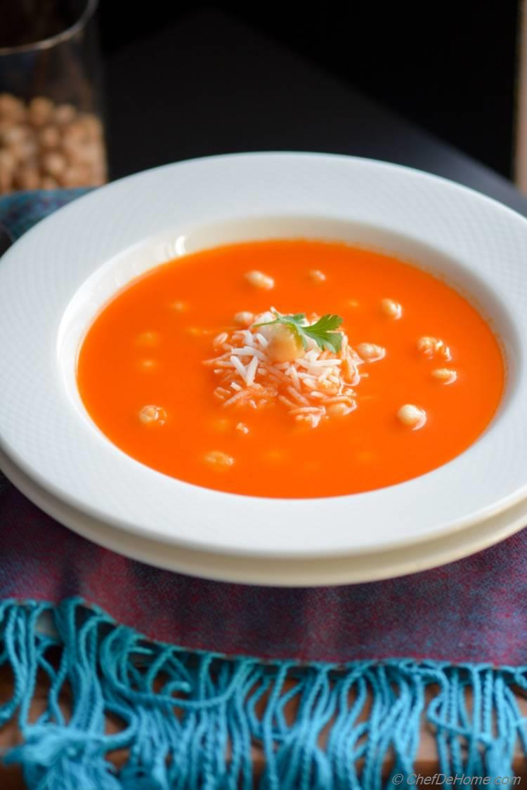 hearty and soul-warming tomato and rice soup