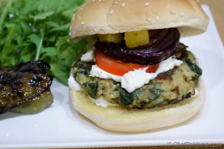 Spinach and Rice Veggie Burgers Recipe